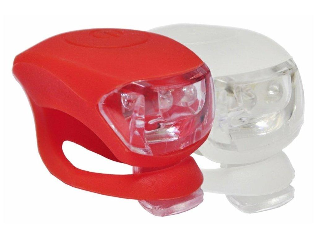 MAX1 Frog sada 2 ks bílá/červená blikačky