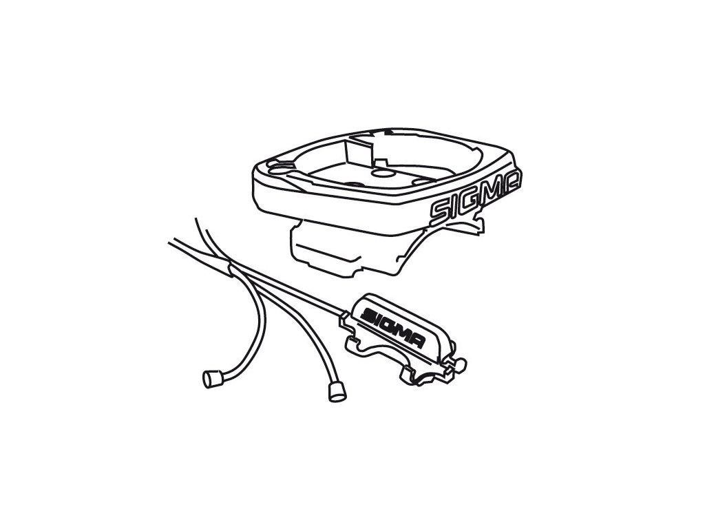 držák SIGMA computeru s kabeláží kompletní (BC 1909-2209) UNI