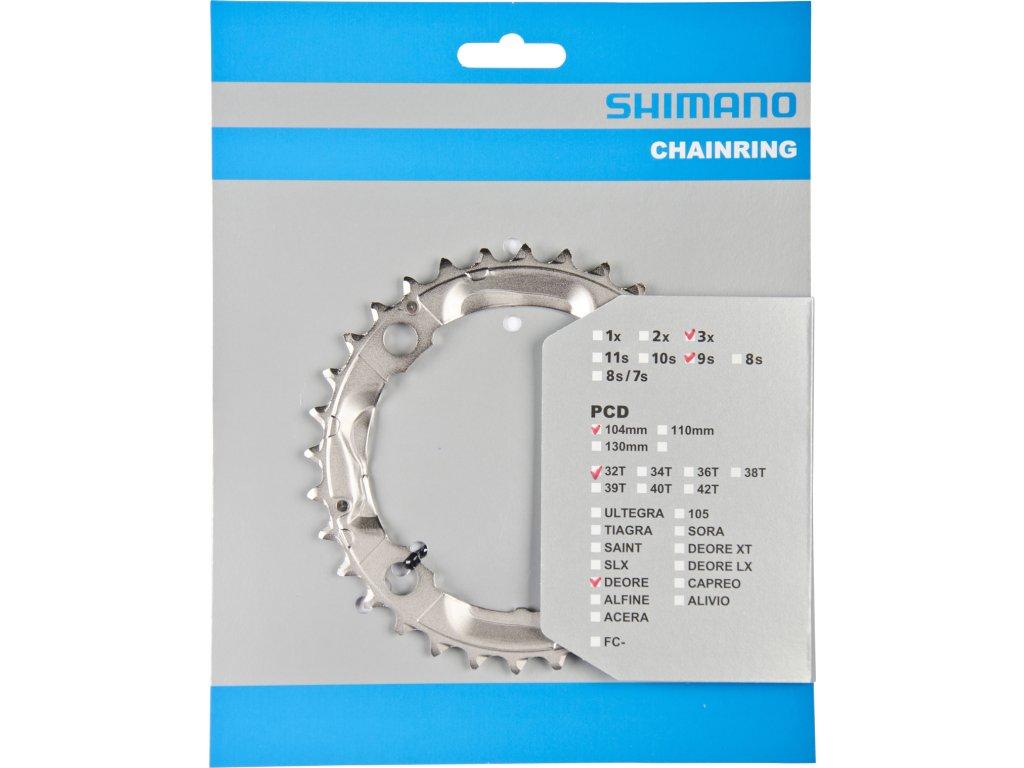 SHIMANO převodník DEORE FCM532 32z, stříbrný