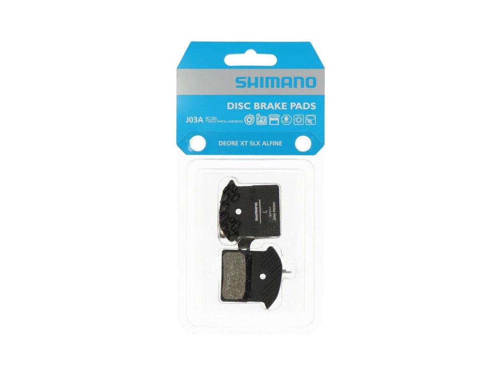 SHIMANO brzdové destičky J03A polymerové s chladičem