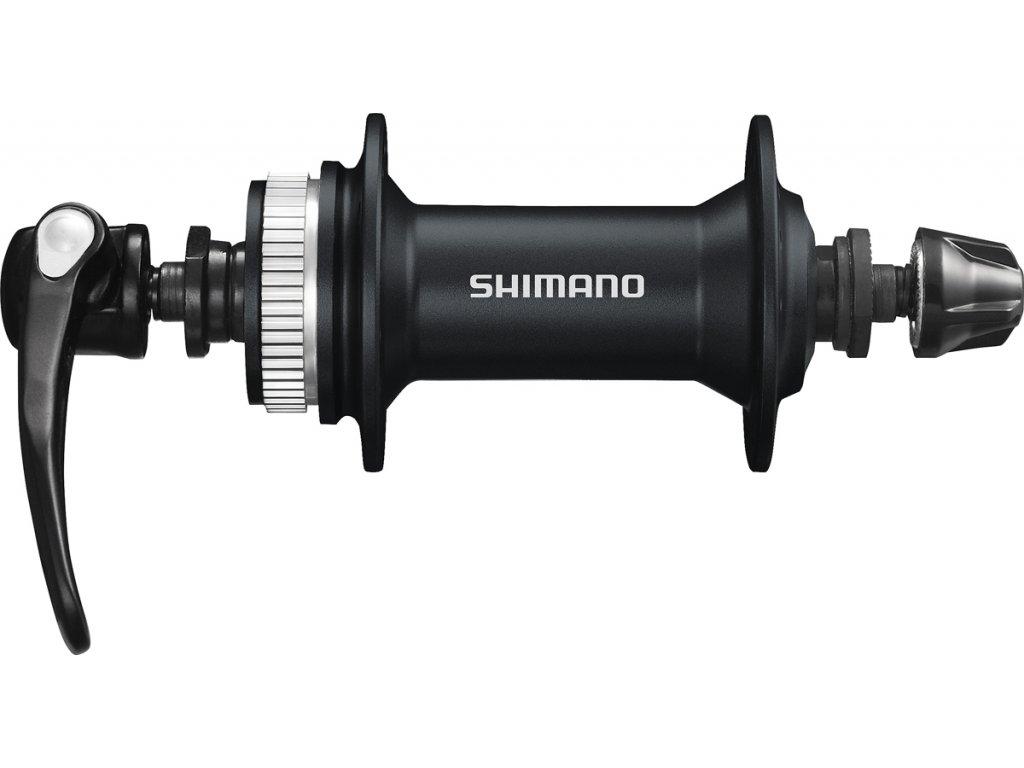 SHIMANO nába přední ALIVIO HB-M405 pro kotouč (centerlock) 32 děr RU: 133 mm černá