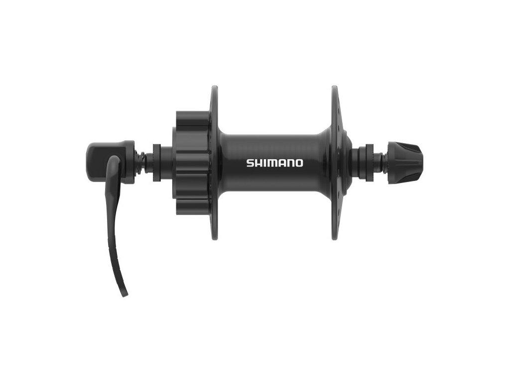 SHIMANO nába přední TOURNEY HB-TX506 pro kotouč (6šroub) 32 děr RU: 133 mm černá osa:100mm bal