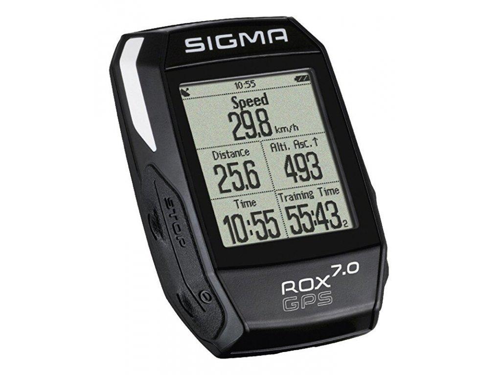 SIGMA Rox 7.0 GPS černý cyklocomputer