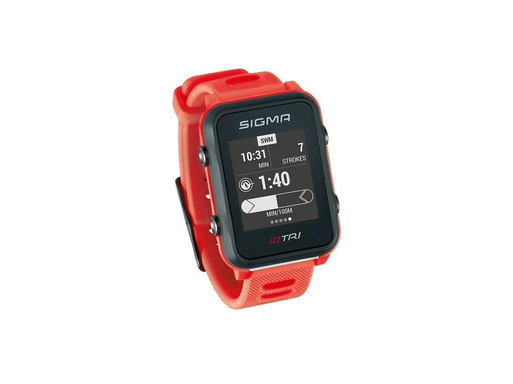 SIGMA iD.TRI Basic červené chytré hodinky
