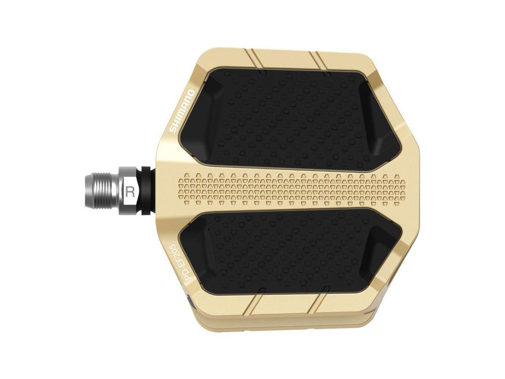SHIMANO pedály PD-EF205 Flat zlaté