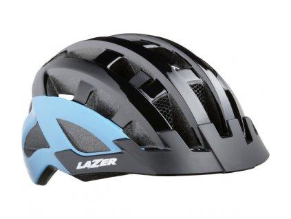 cyklistická přilba LAZER Compact DLX CE-CPSC/ černo modrá uni + net + led