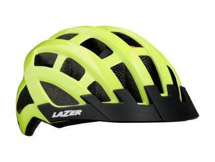 cyklistická přilba LAZER Compact DLX CE-CPSC/ flash žlutá uni + net + led