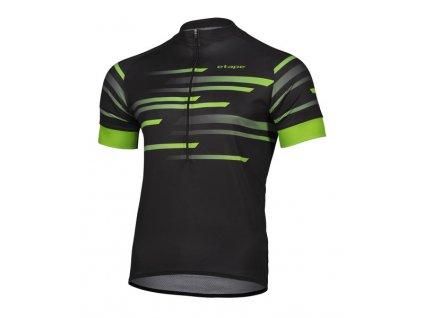 Etape – pánský dres ENERGY, černá/zelená