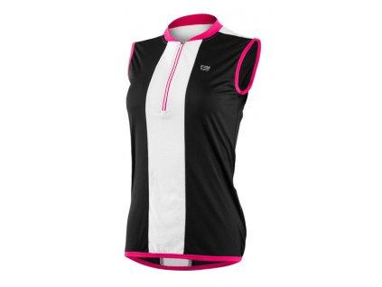 Etape – dámský dres PRETTY, černá/růžová