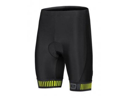 Etape – pánské kalhoty ELITE, černá/žlutá fluo