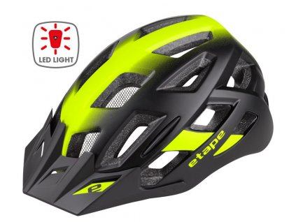 Etape – cyklistická přilba VIRT LIGHT, černá/žlutá fluo mat
