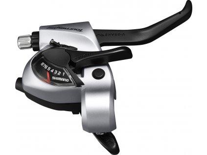 SHIMANO řad/brzd. páka TOURNEY ST-TX800 stříbrná
