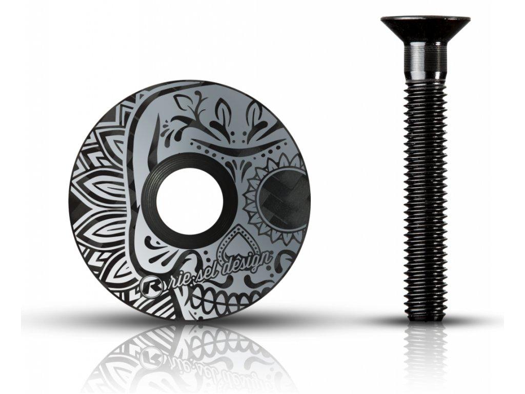 Riesel design Vicko hlavovky los muertos grey