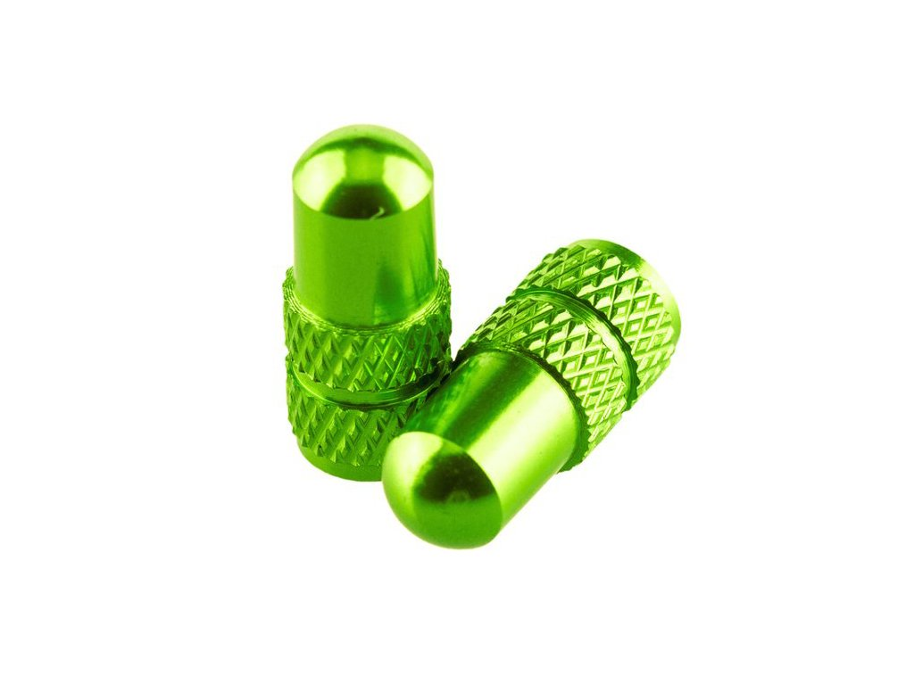 cepicka ventilku presta valve caps zelena