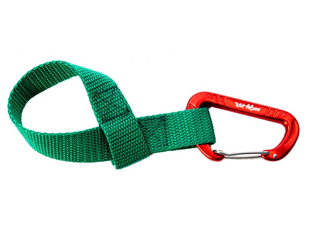 Towhee quick loop s karabinou zelena