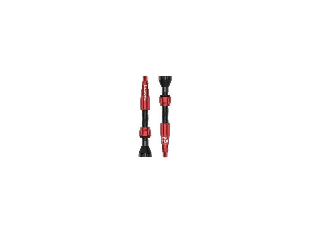 bezdusovy ventilek lezyne cnc tlr valve cervena 44