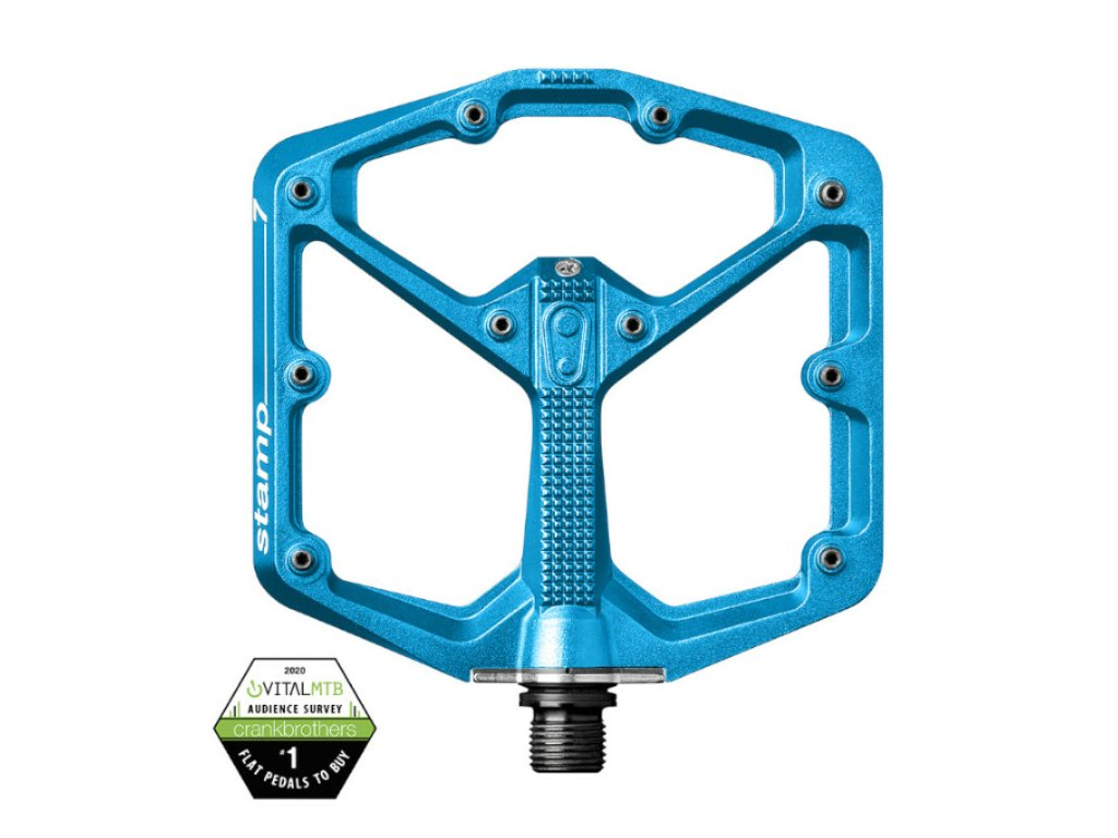 pedaly crankbrothers stamp 7 large electric blue