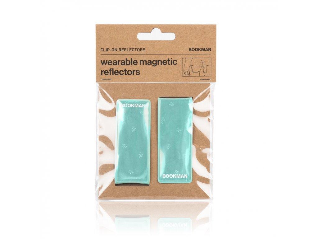 Magnetická Odrazka Bookman Clip on Reflectors pro chodce mint
