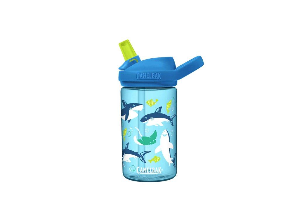 detska lahev na kolo camelbak eddy kids 0 4l shark and rays 1