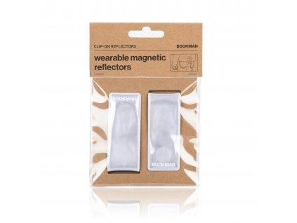 Magnetická Odrazka Bookman Clip on Reflectors bílá