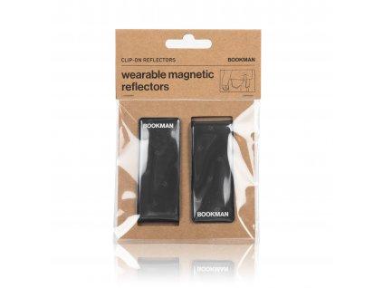 Magnetická Odrazka Bookman Clip on Reflectors cerna