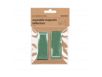 Magnetická Odrazka Bookman Clip on Reflectors pro chodce zelená