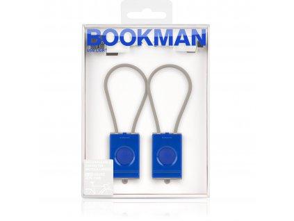 Světlo na kolo USB Bookman set modrá