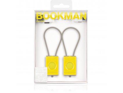 Světlo na kolo USB Bookman set žlutá