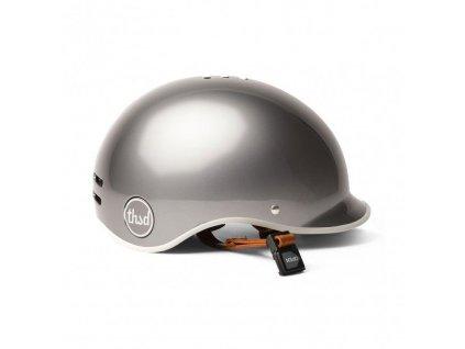 Stylová helma na městské kolo Thousand Polished Titanium