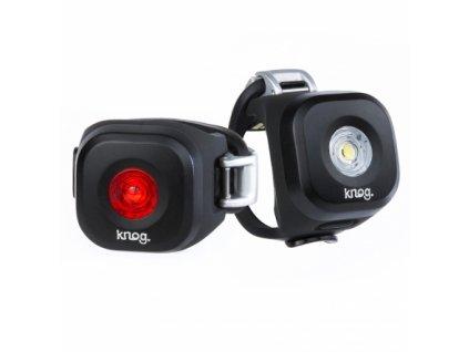 Blikačky Knog Blinder MINI Twinpack, Set přední a zadní