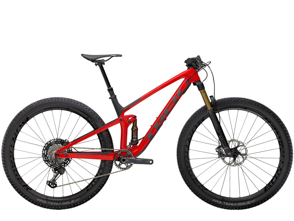 2021 TREK TOP FUEL 9.9 XTR GLOSS RED/MATTE CARBON SMOKE