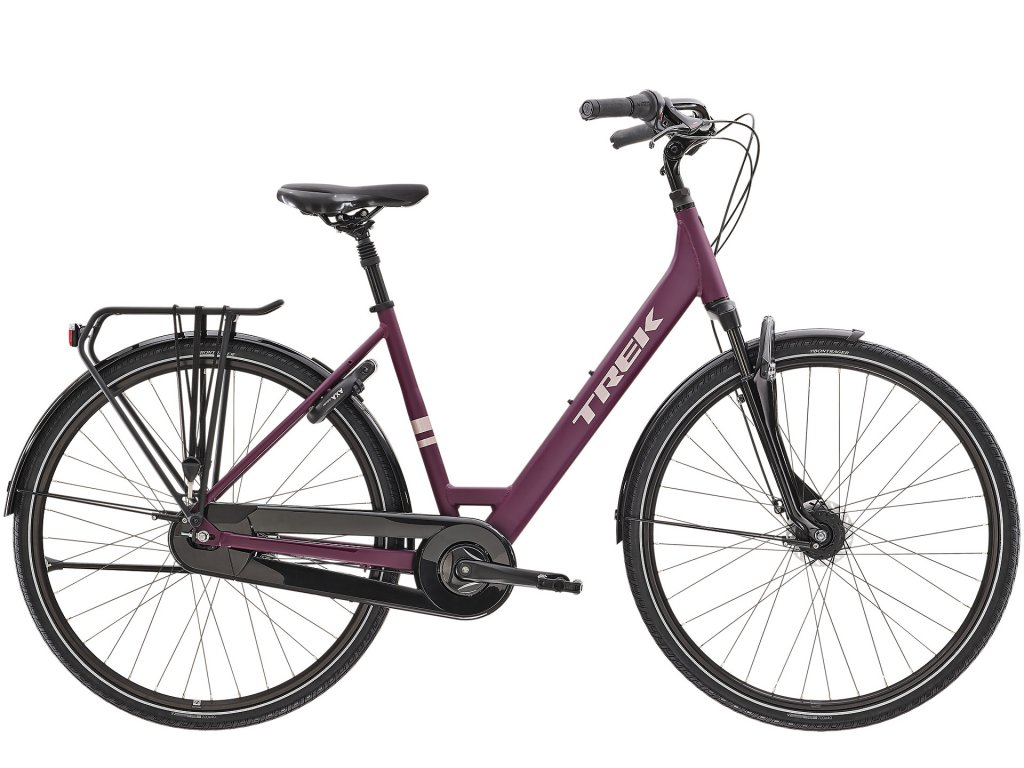 2021 TREK DISTRICT 2 EQUIPPED LOWSTEP MATTE MULBERRY