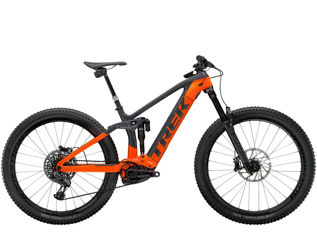 2021 TREK RAIL 9.9 X01 AXS SOLID CHARCOAL/RADIOACTIVE ORANGE