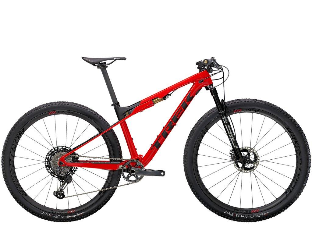 2021 TREK SUPERCALIBER 9.9 XTR GLOSS RADIOACTIVE RED/MATTE BLACK