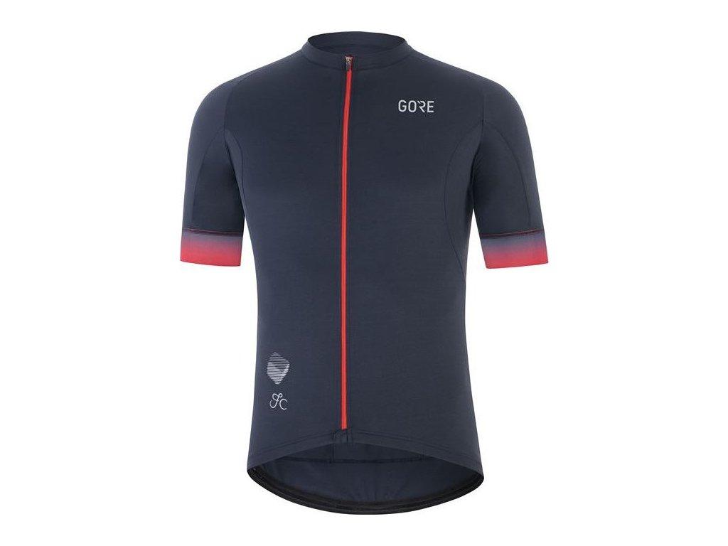 GORE Wear Cancellara Jersey Mens-orbit blue/red-L
