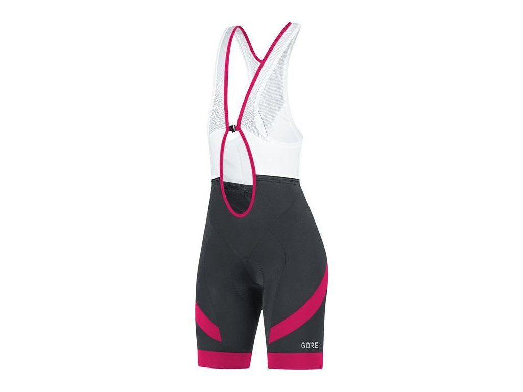 GORE C5 Women Bib Shorts+-black/jazzy pink-36