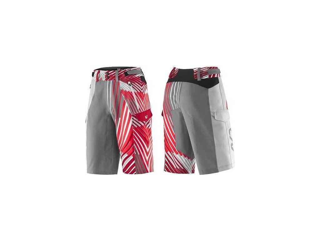 LIV Tangle Baggy Shorts-grey/red-M