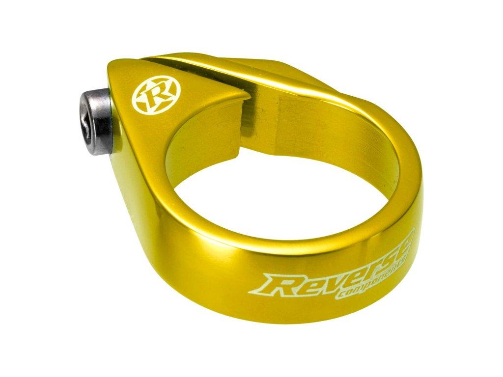 Objímka sedlovky Reverse Bolt 34,9 mm Gold