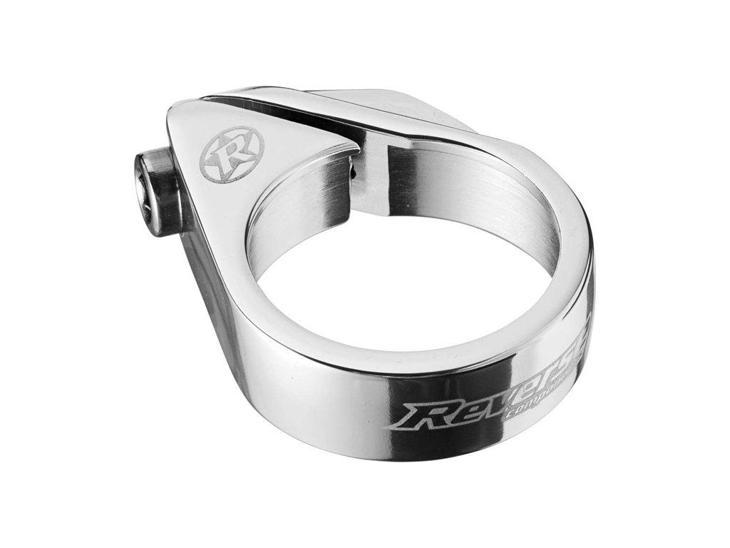 Objímka sedlovky Reverse Bolt 34,9 mm Silver
