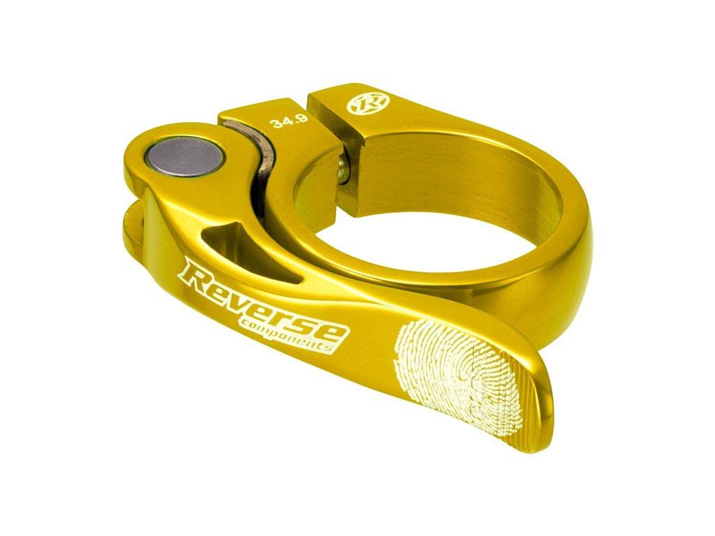 Objímka sedlovky Reverse Long Life 34,9 mm Gold