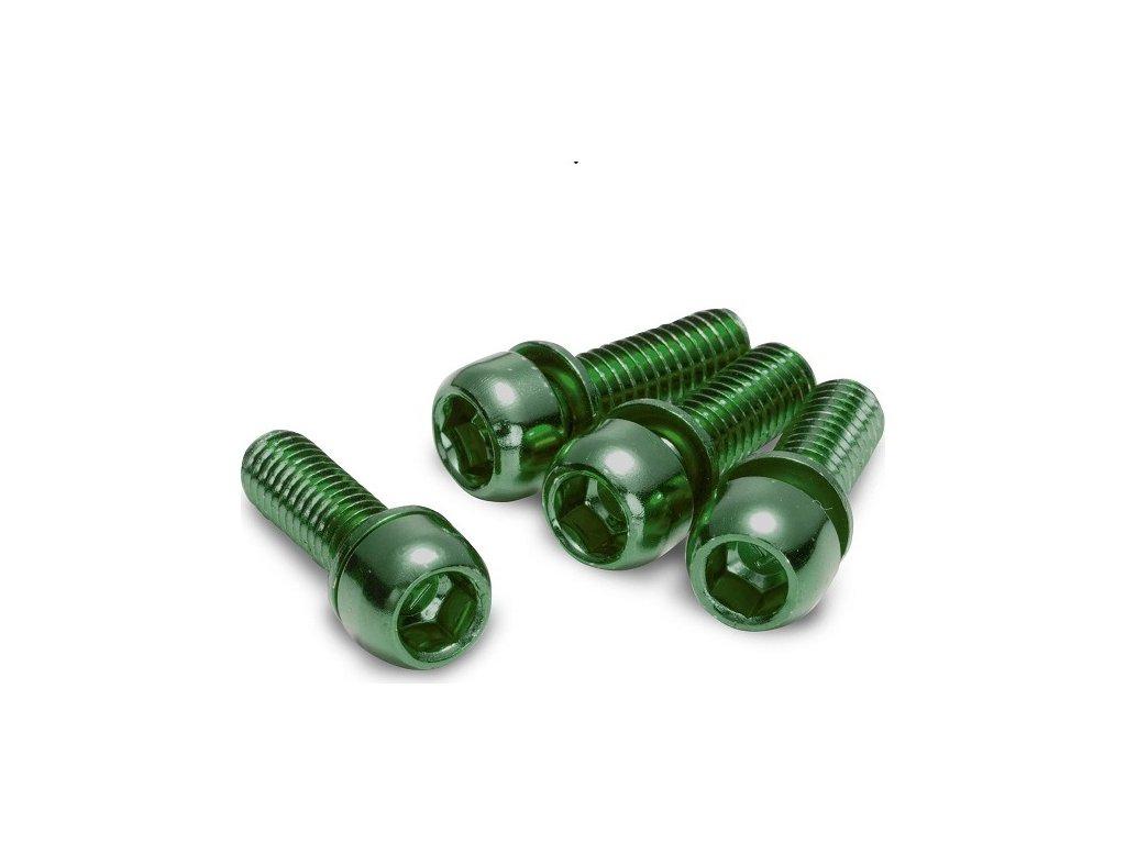 Šrouby na uchycení brzdy Reverse M6 x 18 mm, 4 ks Dark Green