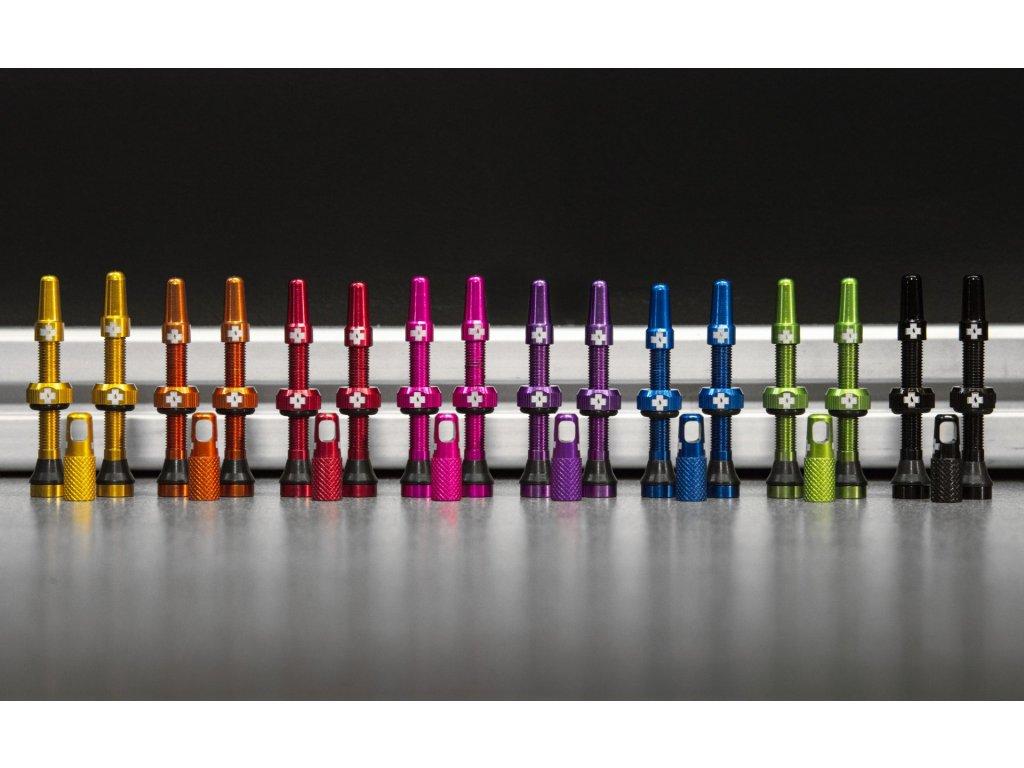 VENTILEK Muc-Off Tubeless Presta Valve KIT (10 různých barev)