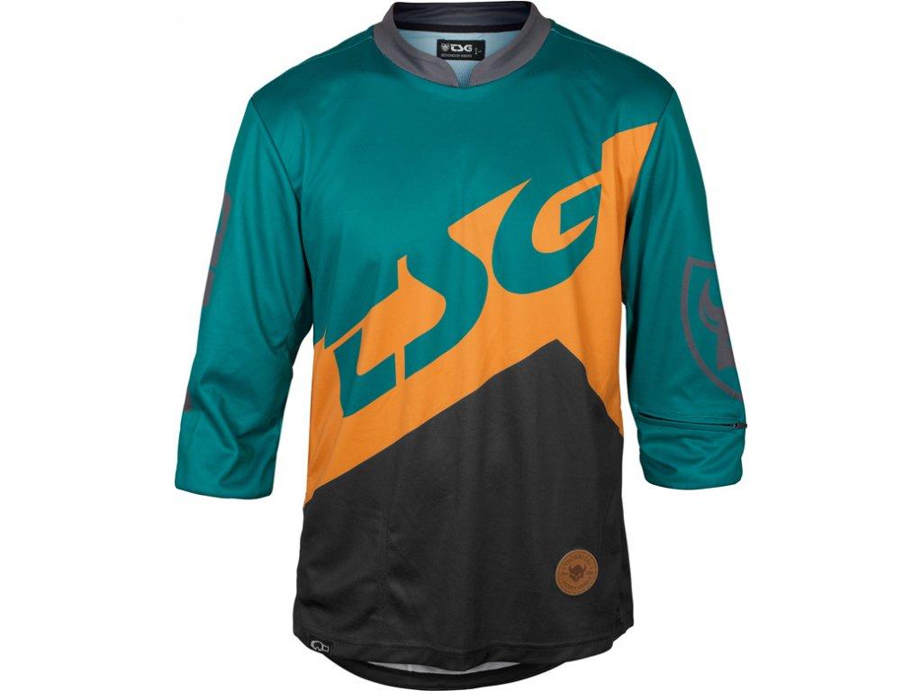 Dres TSG AK1 LS 3/4 black/green, M