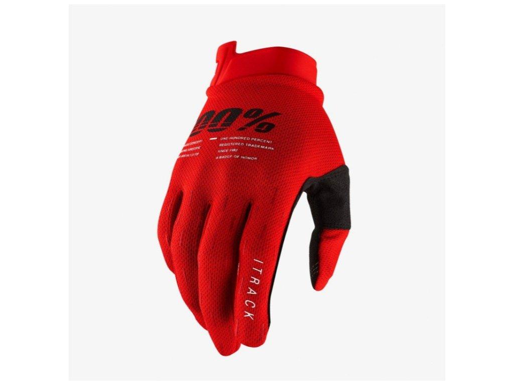 100 rukavice itrack red l (1)