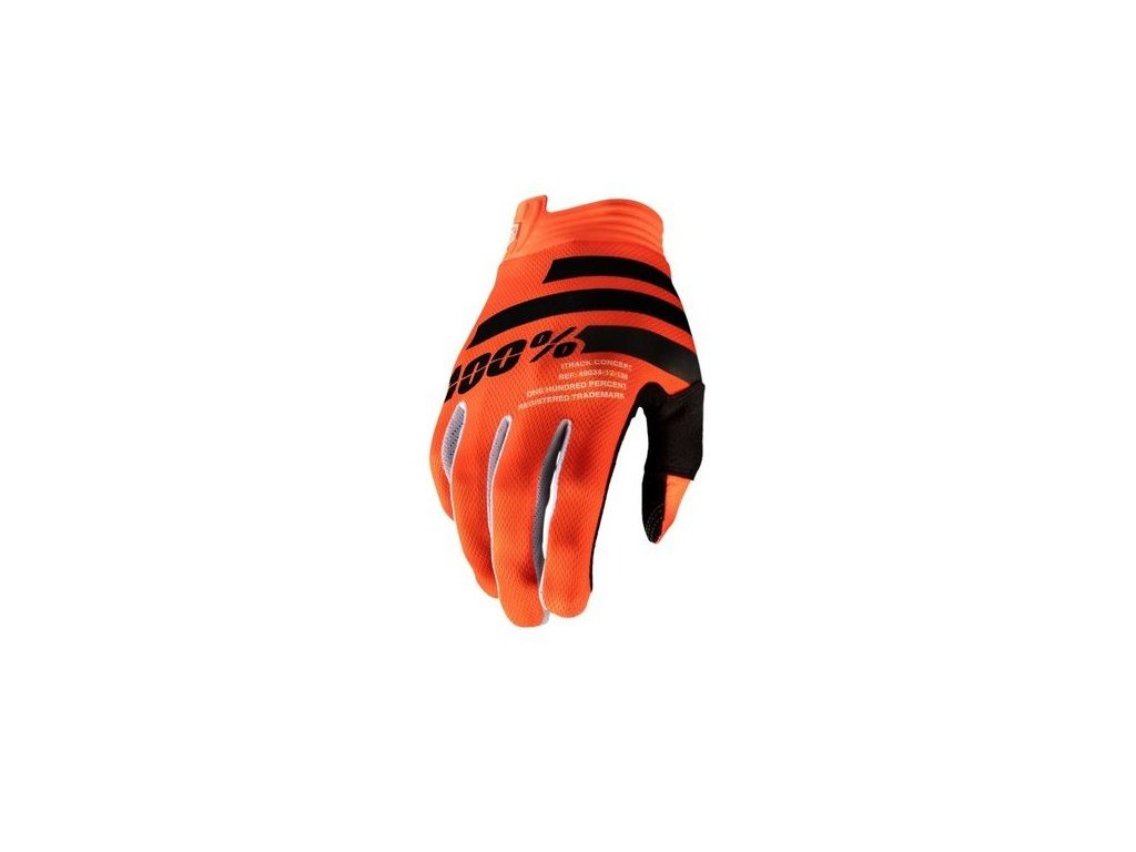 100 rukavice itrack orange black l
