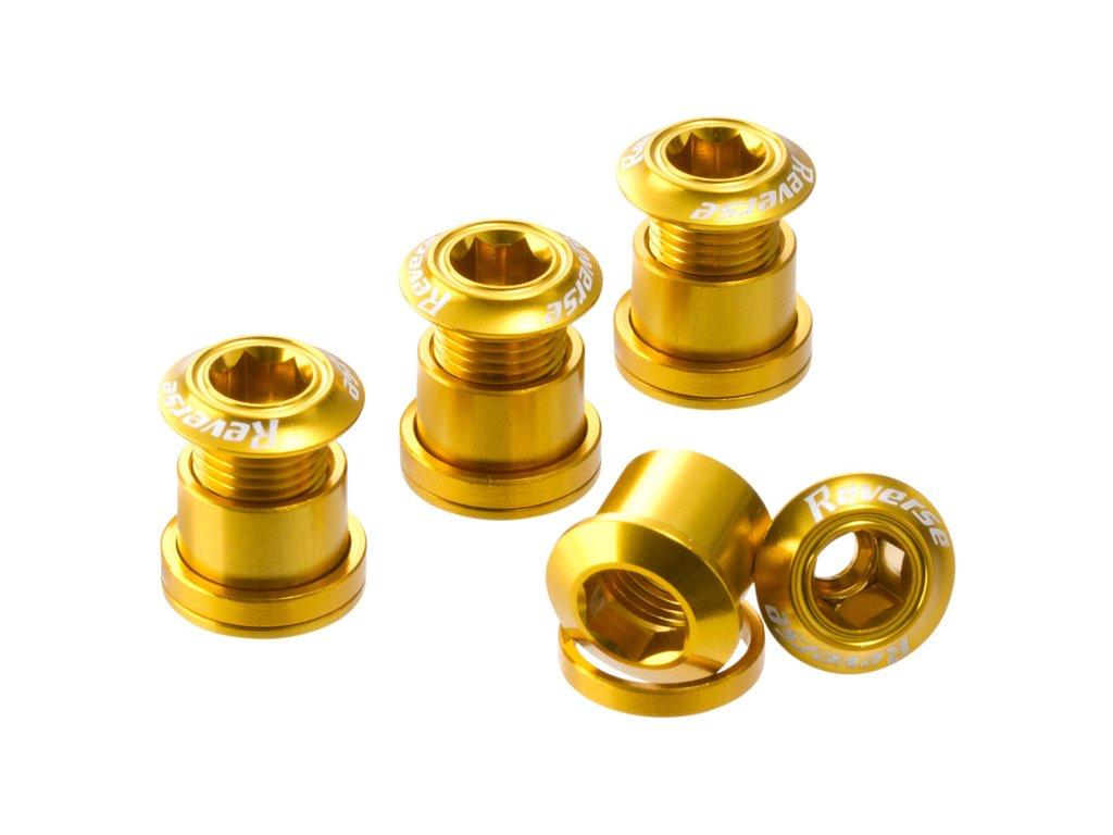 Šrouby do převodníku Reverse Alloy 7 mm, 4 ks Gold