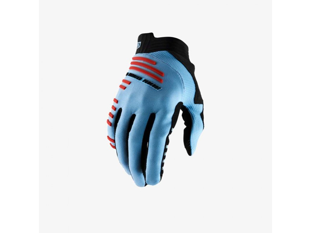 r core gloves light blue fluo red