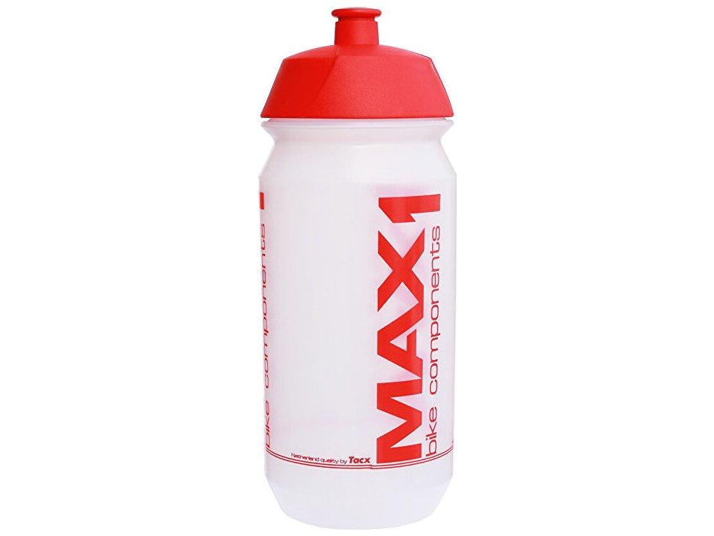 lahev MAX1 Tank 0,6 l transparentní červená