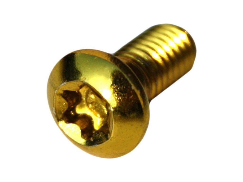 šrouby kotouče MAX1 M5 balení 12ks zlaté