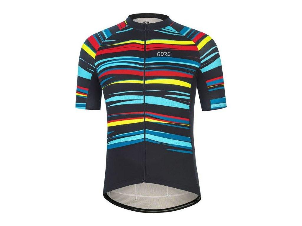 GORE Wear Savana Jersey Mens-black/multicolor-XL